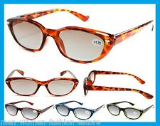 Women's Tinted Sun Readers Designer Reading Glasses Fashion Sunglasses +1.0-3.50