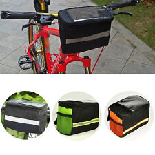 Bicycle Rack Bag Basket Cycling Handlebar Tube Bag Front Pannier Bike
