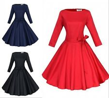 Vintage 50s Audrey Hepburn Evening Party Dress Rockabilly Cocktail Swing Dresses