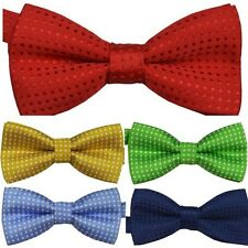 Baby Child Kids Boy Girl Silk Bowtie Pre Tied Bow Tie Necktie Colorful Gifts H37