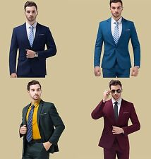 New Style Men's 1 Button Formal Wedding Business Groomman Suit Jackets + Pants
