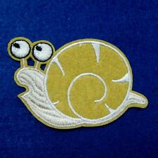1 Snail Iron on Sew Patch Eye Baby Cute Applique Badge Embroidered Biker Animal