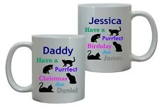 HAVE A PURRFECT BIRTHDAY MUG/COASTER PERFECT CAT PET LOVE PRESENT GIFT ANY NAME