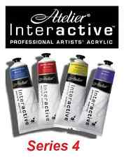 Atelier Interactive Acrylic Paints 80ml Tubes S4 - All Series4 Colours Available