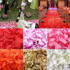 100/1000pcs Simulation Rose Petals Wedding Party Table Confetti Decorations New