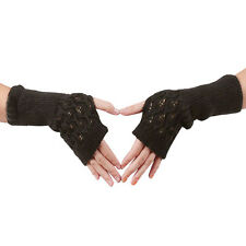 Unisex Women Ladies Fingerless Gloves Warm Gloves Knitted Winter Warm Best