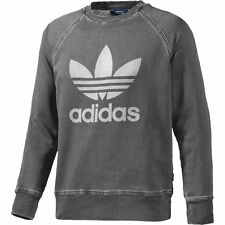 ADIDAS FT DENIM CREW SWEATER CARBON GREY SKATEBOARDING FREE POST AUST SELLER