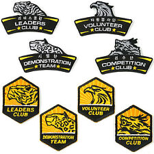 Taekwondo Club Patches 5 pcs Set Lot Iron On Embroidery Patch MMA TKD Hap Ki Do