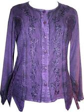 101 B Agan Traders Gypsy Medieval Renaissance Vintage Netted Top Blouse