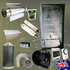 Hydroponics Air Cooled Tube 600w HPS MH Lamp Grow Tent Timer Vent Fan Filter Kit