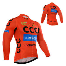 Cycling Long Sleeve Jersey Wear Mens Bike Riding Tops Outfits Shirt Maillots New