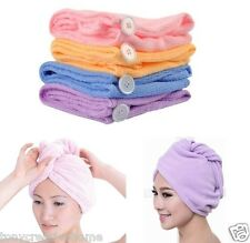 New microfibre hair towel Drying Wrap Turbie Twist Cap Dryer Care 3 colors