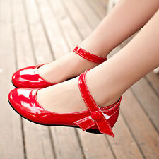 Hot Womens Girls Ankle Strap Mary Jane Low Ballet Flat Oxfords Casual Pump Shoes