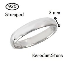 925 Sterling Silver infinity plain Ring 3mm New Wholesale Jewelry Wedding s 5-12
