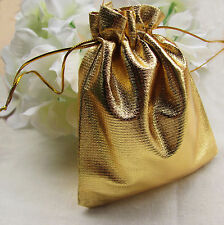 50Pcs 7*9cm Gold Silver Drawstring Organza Jewelry Pouch Wedding Gift bag