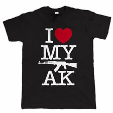 I Love My AK, Mens Gamer Airsoft or Paintball AK47 T Shirt