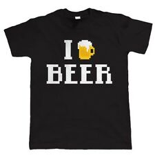 I Love Beer 8 Bit, Video Game Style T Shirt