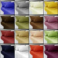 Brand New 1200 TC 4 PC Sheet Set Solid 100 % Egyptian Cotton Expedited Shipping