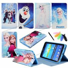 """Frozen Character Case for Samsung 7.9"""" 8.4"""" 10.1""""Tablets PU Leather Stand Cover"""
