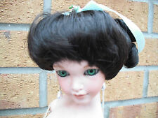 ANTIQUE STYLE DOLLS WIG SIZE 8-9 IN BROWN 2 COLOURS AVAILABLE STYLE LINDA