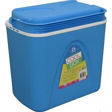 24L COOLBOX LARGE BLUE COOLER BOX CAMPING PICNI BEACH ICE FOOD INSULATED NEW