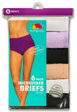 Womens Fruit of the Loom 6 Pack Microfiber Briefs ALL SIZES 6 7 8 9 10 Underwear