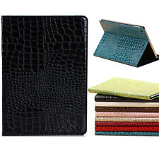 Luxury Crocodile Grain PU Leather Flip Stand Case Cover Skin For Apple iPad Pro