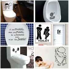 Durable Bathroom Toilet Decoration Seat Art Wall Stickers Decal Home Decor  fo