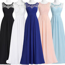 SALE CHIFFON PROM EVENING GOWN FORMAL LONG DRESS DANCE PARTY PAGEANT & PLUS SIZE
