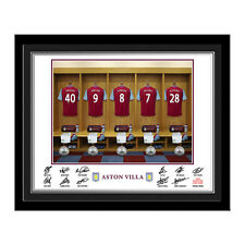 Personalised Aston Villa FC Football Club Team Shirt Dressing Room Photo