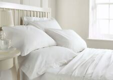Super Soft 800 1000 1200 1500 TC White Solid Bedding Set 100% Cotton All USSize*