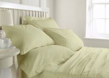 High Quality 800 1000 1200 1500 TC Ivory Solid Bedding Set 100 % Cotton All Size