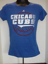 Chicago Cubs Womens Blue Majestic T-Shirt - Free Shipping! - NWT!