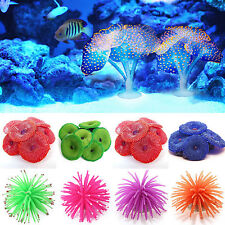 Soft Artificial Plastic Coral Plant Aquarium Fish Tank Ornament Underwater Decor