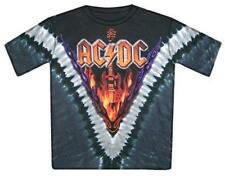 OFFICIAL LICENSED - AC/DC - HELLS BELLS TIE DYE T SHIRT ROCK METAL ANGUS