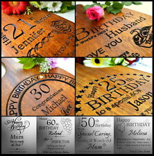 Personalised Birthday 21 30 40 50 60 Gift Cutting Board Personalized Customized