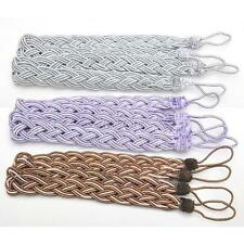 Stylish Window Curtain Cord Rope Tiebacks Braided Tie Back Curtain Accessory