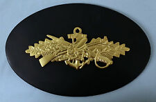 USN UNITED STATES NAVY SEABEE COMBAT WARFARE OFFICER or ENLISTED INSIGNIA PLAQUE