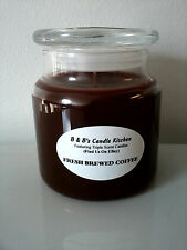 B & B's Candle Kitchen Fresh Brewed Coffee Heavily Scented 16 Ounce Home Candle