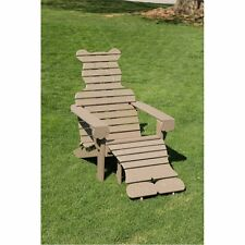 Poly Bear Adirondack Chair with Ottoman - Oversized - Premium- Amish Made