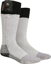 Lectra Sox: Grey Battery Heated Military Thermal Socks