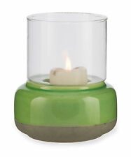 Casa Uno Candles & Candle Holders NEW Stoneware Candle Holder with Glass
