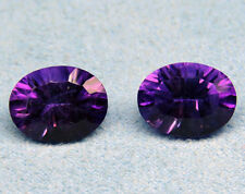 Natural Amethyst Concave Cut Oval 4x6mm - 18x13mm Calibrated Size Loose Gemstone