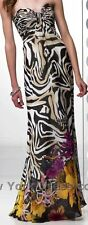 35404 ALYCE PARIS Strapless animal-print GOWN FORMAL PROM PAGEANT DRESS Sz6 $400