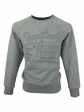 Mens Boys New PRPS Embroided Logo Fashion Grey Jumper Top Sweater in Medium