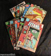 NEW TEEN TITANS & Tales / DC Comics Lot of 13 Vintage Comics / Deathstroke
