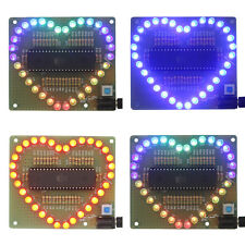 New DIY Kit Heart-shaped LED Red Blue Colorful Light Water Electronic SL