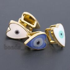10x Colorful Gold Plated Enamel Alloy Evil Eye Belt Buckles Charms Findings BS