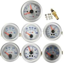 Boost/Water Temp/Oil Pressure/Tachometer/Volt Gauge Meter 12V 2'' 52mm LED Car