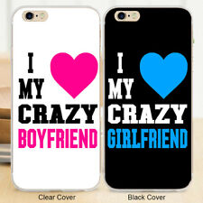 I Love My Crazy Girl Boy Hard Couple Phone Case Cover for Iphone /Samsung Galaxy
